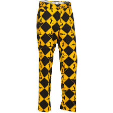 Golf Trousers By Royal And Awesome Swing Under Construction Pants Size 30 - 44