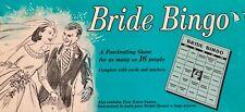 Vintage Bride Bingo Game Bridal Shower Party Leister Game Co 1957 No 1027