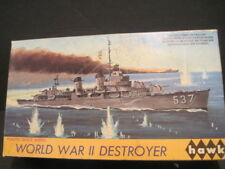 OLD  MODEL KIT HAWK WORLD WAR II DESTROYER BOAT SHIP (BOX ONLY)