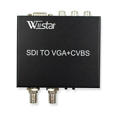 SDI to VGA CVBS/AV SDI Loop Converter Support 1080P for Monitor/Camera/Display