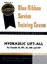 International Farmall Hydraulic Lift-All H HV M MD MV Tractor Manual Liftall IH