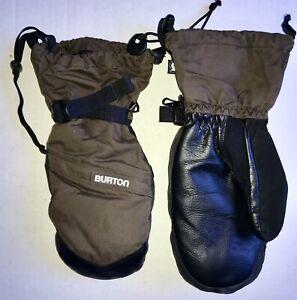 Burton Snowboard TOASTER MITT Mittens Men's XL Insulation BROWN BLACK pu