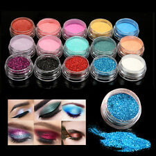 15 Colors/set Mineral Glitter Pearl Loose Eyeshadow Eye Pigment Powder Makeup