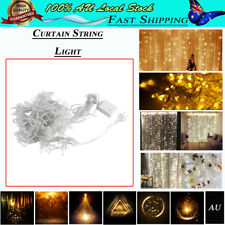 300/600 LED Indoor Curtain Fairy Lights Wedding Outdoor Xmas Garden Party AU