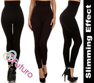 New Black Anti-cellulite Slimming High Waist Control Full Length Leggings FG7248