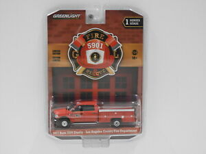 """1:64 2017 Dodge Ram 3500 Dually - Los Angeles County Fire Department """"Fire & Res"""