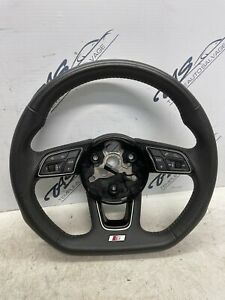 2017 AUDI A4 B9 S LINE MULTIFUNCTION LEATHER STEERING WHEEL ** NON PADDLE TYPE**