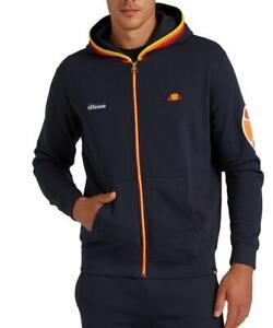 Sweatshirt Ellesse Man Blue Jacket Hood Hoody Sport Logo
