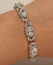 10K White Gold Filled Diamond 3CT Tennis Bracelet Diamond 7 1/4'