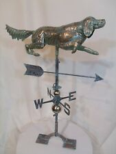 LARGE Handcrafted 3D 3-Dimensional DOG Weathervane Copper Patina Finish