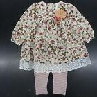 Infant Girls Bonnie Baby Floral Dress Top W/T Leggings 2PC Set Sizes 12Mt - 24Mt