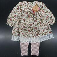12m-24m Infant Girls Miniville 2pc Fruit Outfit Sizes
