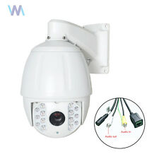 Outdoor HD 1080P 30X ZOOM 2MP IP Dome Camera CCTV PTZ Security 495ft IR Audio