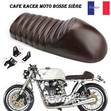 Marron Cafe Racer moto bosse siège selle pr Suzuki Yamaha Honda Harley Universel