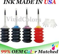 Refill Dye Ink for HP 63 63XL BKCMY Ink Cartridge 4x30ml for ENVY 4512 4520 5540
