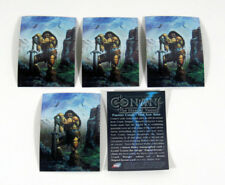 Lot of (5) 1996 Comic Images Conan The Marvel Years Promo Card Nm/Mt