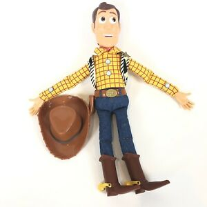 """Disney Toy Story 15"""" WOODY Pull String Talking Doll with Hat Clean Tested Works"""
