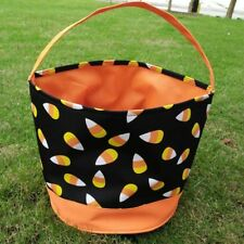 Candy Corn Halloween Bucket, Trick or Treat Bag