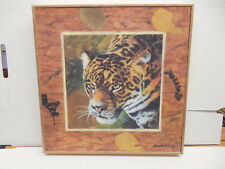 Cheetah African Framed Textured Print Home Decor Decoration