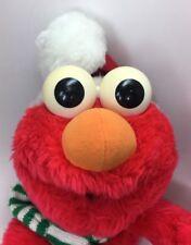 """Vintage 13"""" Tyco 1997 Sesame Street CHRISTMAS ELMO Plush"""
