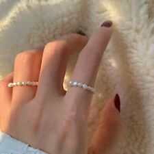 2020 New Natural Freshwater Pearl Multi Beaded Geometric Rings Women Ring Gifts