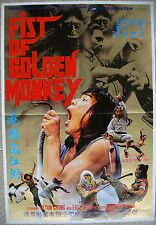 """Chinese Kung Fu Karate FIST OF GOLDEN MONKEY 21""""x31"""" Movie Poster Film 1981 NM"""