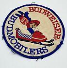 Vintage Budweiser Budmobilers Beer Cloth Patch ORIGINAL Used