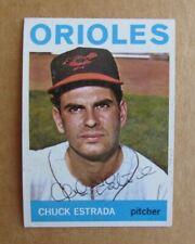 1964 TOPPS BASEBALL CHUCK ESTRADA #263 SIGNED AUTOGRAPH CARD BALTIMORE ORIOLES