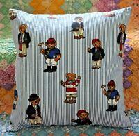 Throw Pillow Ralph Lauren Polo Teddy Bear Kennebunkport Plaid Cover Sham