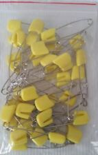 36 Full Size Baby Cloth Diaper Pins Yellow