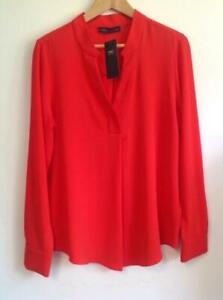 M&S Collection-Popover Notch Neck Long Sleeve Tunic-PAPRIKA (BNWT) Size 12 Or 14