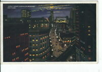 CI-042 NY New York City Herald Square at Night on Broadway White Border Postcard