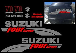 Suzuki 70hp FourStroke Outboard Decal Kit Replacement Decals REMIXB