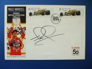 1988 ISLE OF MAN NIGEL MANSELL FIRST DAY COVER SIGNED BY NIGEL MANSELL.