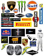 1:18 - 1:24 scale Pre-cut Garage signs/logos Matte stickers/ diorama/model  1