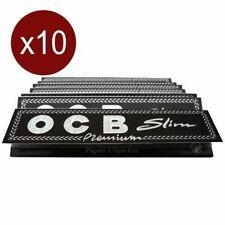 10x OCB Slim Noir, Feuille à rouler, Papier, Rizla+, Cigarette Rolling Papers,