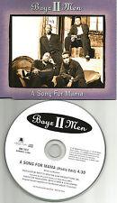 BOYZ II MEN A song for Mama RARE EDIT EUROPE made PROMO CD single USA seler boys