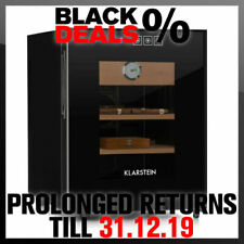 Klarstein El Presidente 33 Humidor 50 W Touch Cedar 33l LED Black and Orig