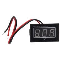 Impermeable 2.5-30V voltimetro digital Monitor indicador de voltaje Medidor de b