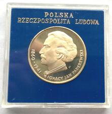 Poland 1975 Jan Paderewski 100 Zlotych Silver Coin,Proof