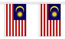 MALAYSIA 3 METRE BUNTING 10 FLAGS flag 3M MALAYSIAN KUALA LUMPUR