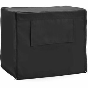 Universal Fit Dog Crate Cover with Side Windows, XL Pet Polyester Pet Kennel