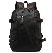 Men's PU Leather Backpack School Bag Travel Shoulder Satchel Book Bag Rucksack