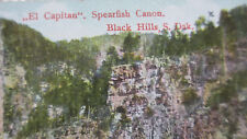 2 OLD Made in Germany postcards~Spearfish Falls & Canon~Black Hills South Dakota