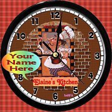 Personalized Chef Kitchen Wall Clock