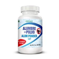 Germa Alum Powder USP. Natural Deodorant. Antiseptic & Hypoallergenic. 3 oz