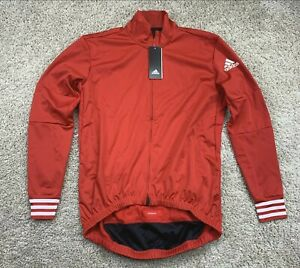 Adidas Adistar.oj.ls Jersey $225 Men's Cycling Switzerland Red CW7728 Sz. SMALL