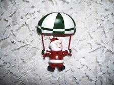 Parachuting Santa Claus Christmas Pin