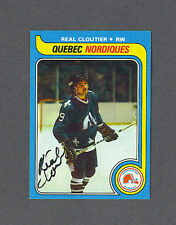 Real Cloutier signed Nordiques 1979-80 Topps hockey card