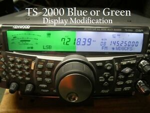 Kenwood TS-2000 Cool Blue Green led Light display modification Kit mod hamkitt